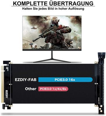 EZDIY-FAB New PCI Express 16x Flexibles Kabel Karten Verlängerung Port Adapter High Speed Riser Card Passen mit FD R6 PC-Gehäuse -20cm – Bild 1
