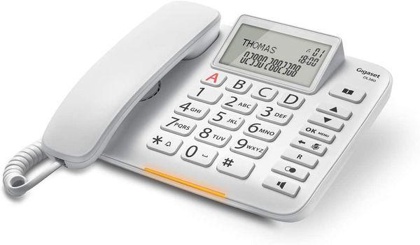 Gigaset DL380 Analoges Telefon Weiß Anrufer-Identifikation – Bild 1