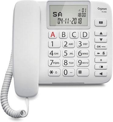 Gigaset DL380 Analoges Telefon Anrufer-Identifikation WHITE – Bild 2