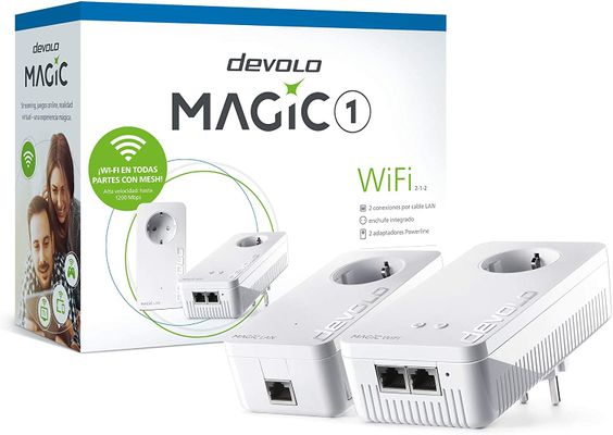 Devolo Magic 1 - Wi-Fi Powerline Start Kit (Wi-Fi ac up to 1200 Mbps, 2 etherne LAN connections, integrated plug, Mesh Wi-Fi) White – Bild 4