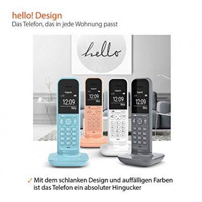 Gigaset CL390A Duo 2 schnurlose Design-Telefone mit Anrufbeantworte (DECT Telefone mit Freisprechfunktion, großem Grafik Display, leicht zu bedienen mit intuitiver Menüführung) satellite grey – Bild 4