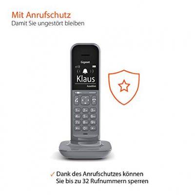 Gigaset CL390A Duo 2 schnurlose Design-Telefone mit Anrufbeantworte (DECT Telefone mit Freisprechfunktion, großem Grafik Display, leicht zu bedienen mit intuitiver Menüführung) satellite grey – Bild 6