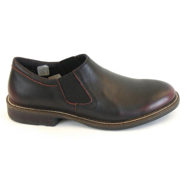 low priced c6f04 e23b0 Naot Herren Schuhe Slipper Director Leder schwarz/bordo 10134 Wechselfußbett