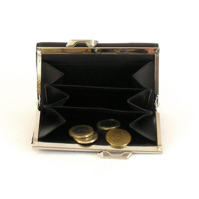 HGL Damen Geldbörse Bügelbörse Leder schwarz 10186 Kreditkartenfach Druckknopf – Bild 3