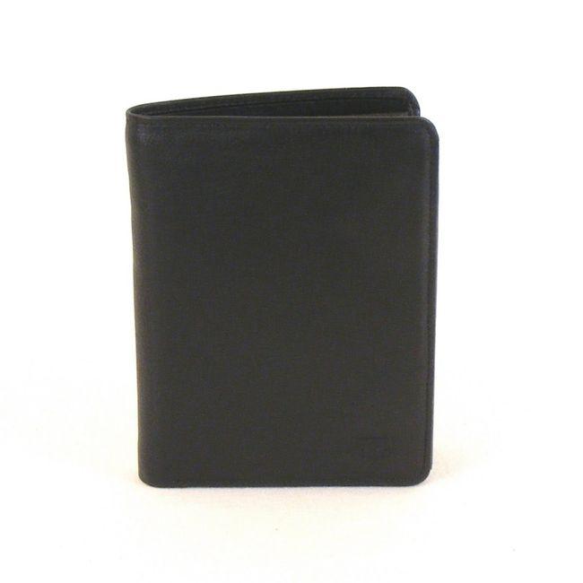 HGL Herren Geldbörse Hochformat Leder schwarz 10194 Kreditkartenfach RV-Fach – Bild 1