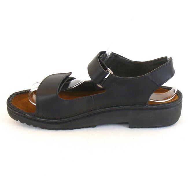 Naot Damen Schuhe Sandaletten Karenna Leder schwarz 10228 Wechselfußbett Fußbett – Bild 2