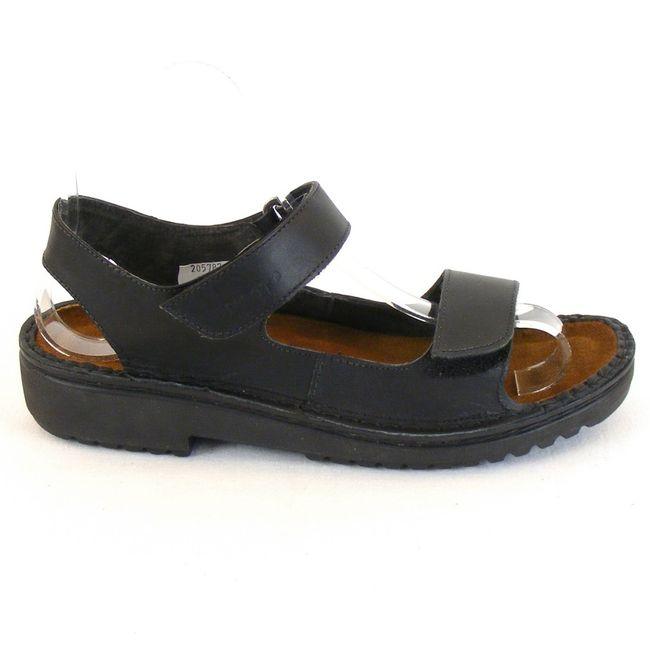 Naot Damen Schuhe Sandaletten Karenna Leder schwarz 10228 Wechselfußbett Fußbett – Bild 4