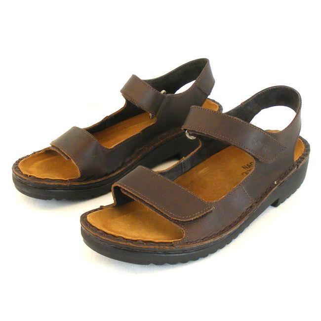 Naot Damen Schuhe Sandaletten Karenna Leder dunkelbraun 10312 Wechselfußbett – Bild 1