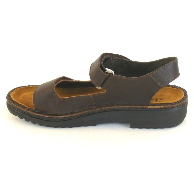 Naot Damen Schuhe Sandaletten Karenna Leder dunkelbraun 10312 Wechselfußbett – Bild 2