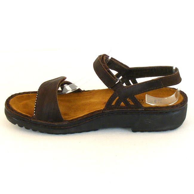 Naot Damen Schuhe Sandaletten Anika Echt-Leder braun 10318 Wechselfußbett – Bild 2