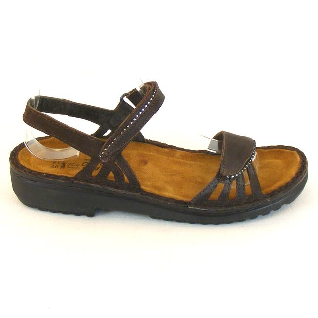 Naot Damen Schuhe Sandaletten Anika Echt-Leder braun 10318 Wechselfußbett – Bild 4