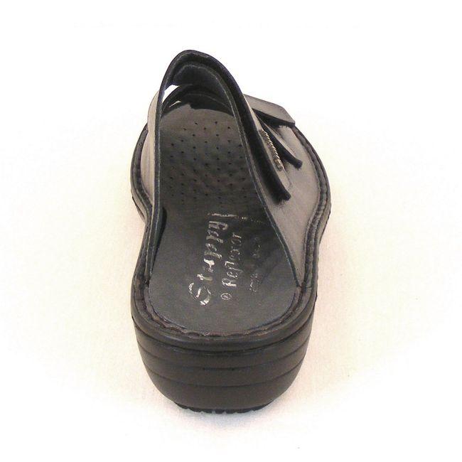 Stuppy Damen Schuhe Pantoletten Leder grau silber 10605 Wechselfußbett  Freizeit – Bild 3