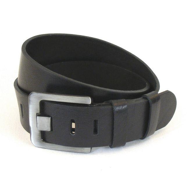 Fashionland Herren Gürtel Leder 10653 schwarz verstellbar kürzbar Echt-Leder  – Bild 1