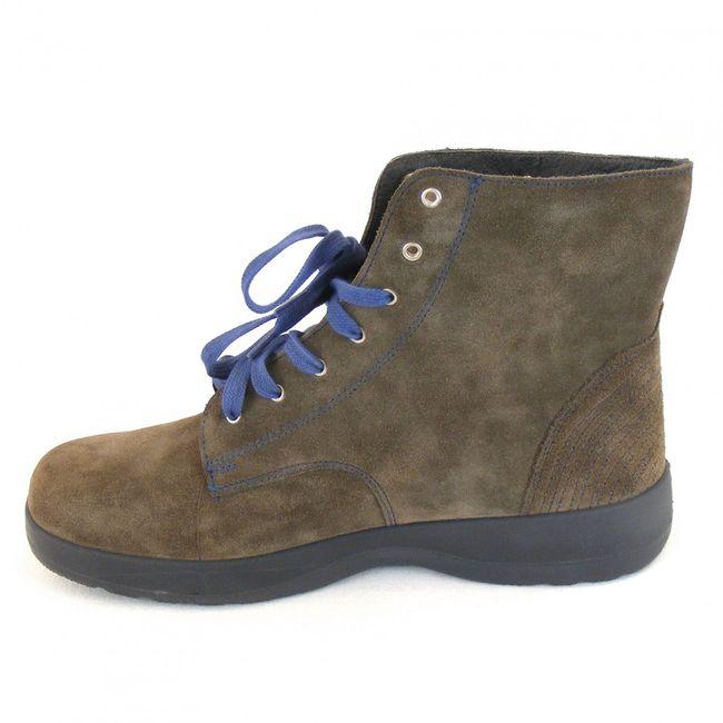 Naot Damen Schuhe Knöchelschuhe Caribou Velourleder khaki 10808 Wechselfußbett – Bild 2