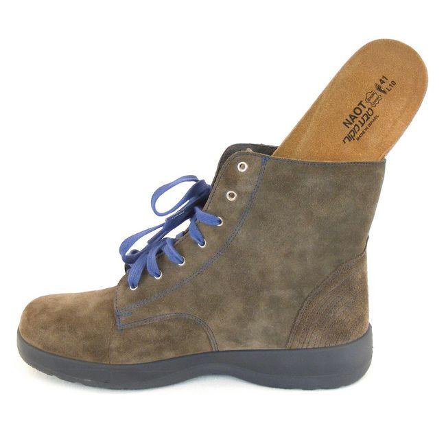 Naot Damen Schuhe Knöchelschuhe Caribou Velourleder khaki 10808 Wechselfußbett – Bild 6