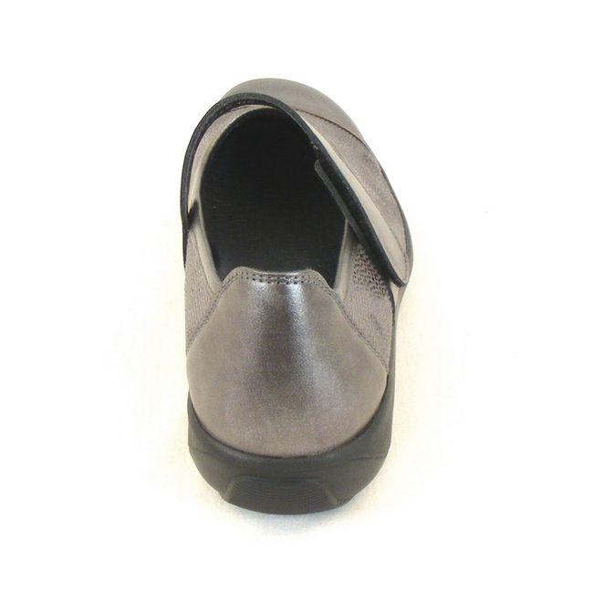 Stuppy Damen Schuhe Mary Jane Spangenschuhe Leder Stretch grau metallic 10957 – Bild 3