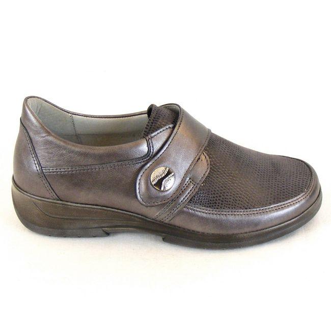 Stuppy Damen Schuhe Halbschuhe Leder Stretch grau metallic 10965 Wechselfußbett – Bild 4