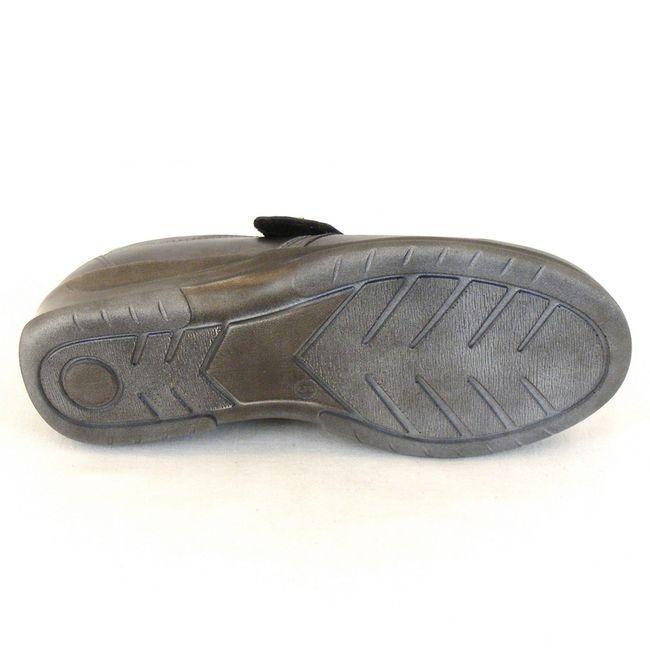 Stuppy Damen Schuhe Halbschuhe Leder Stretch grau metallic 10965 Wechselfußbett – Bild 5