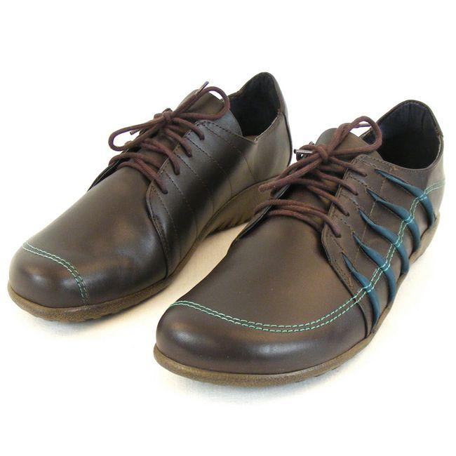 Naot Damen Schuhe Halbschuhe Tanguru Leder dunkelbraun combi 11089 Fußbett