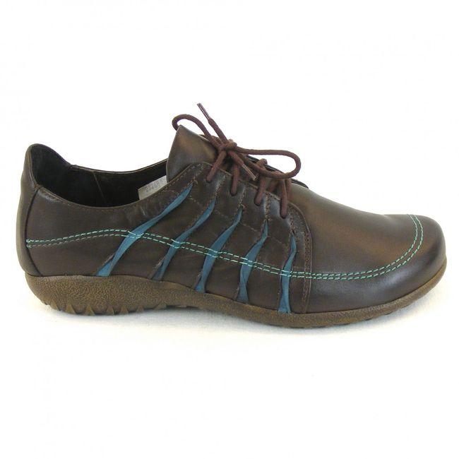Naot Damen Schuhe Halbschuhe Tanguru Leder dunkelbraun combi 11089 Fußbett – Bild 4