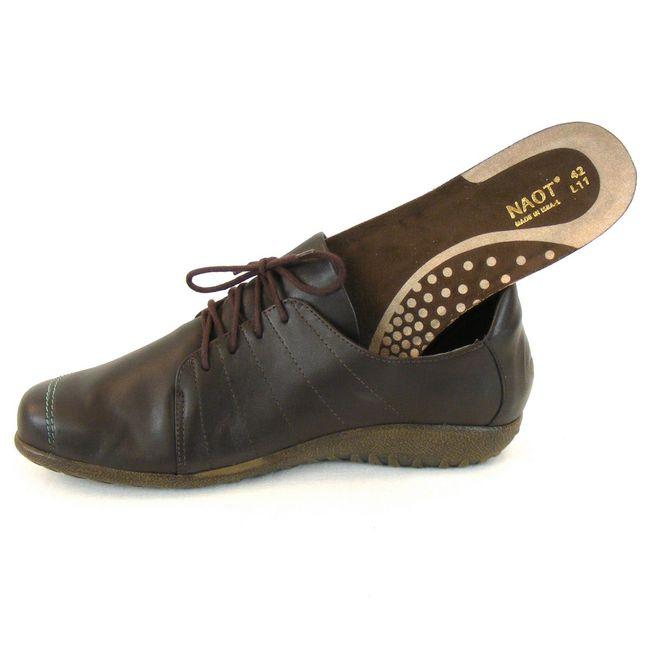 Naot Damen Schuhe Halbschuhe Tanguru Leder dunkelbraun combi 11089 Fußbett – Bild 6