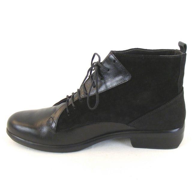 Naot Damen Schuhe Knöchelschuhe Mistral Leder schwarz combi 11095 Wechselfußbett – Bild 2