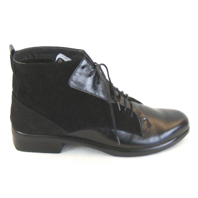 Naot Damen Schuhe Knöchelschuhe Mistral Leder schwarz combi 11095 Wechselfußbett – Bild 4