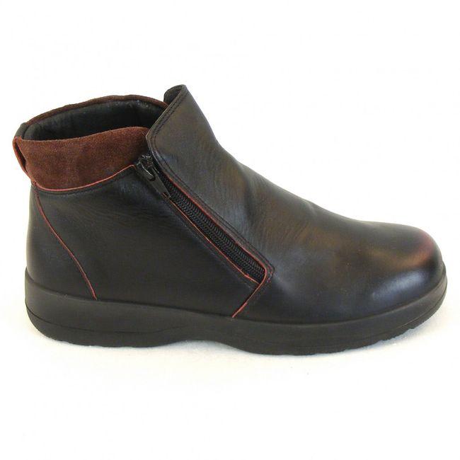 Naot Damen Schuhe Stiefeletten Lynx Echt-Leder schwarz rot Wechselfußbett 11101 – Bild 4