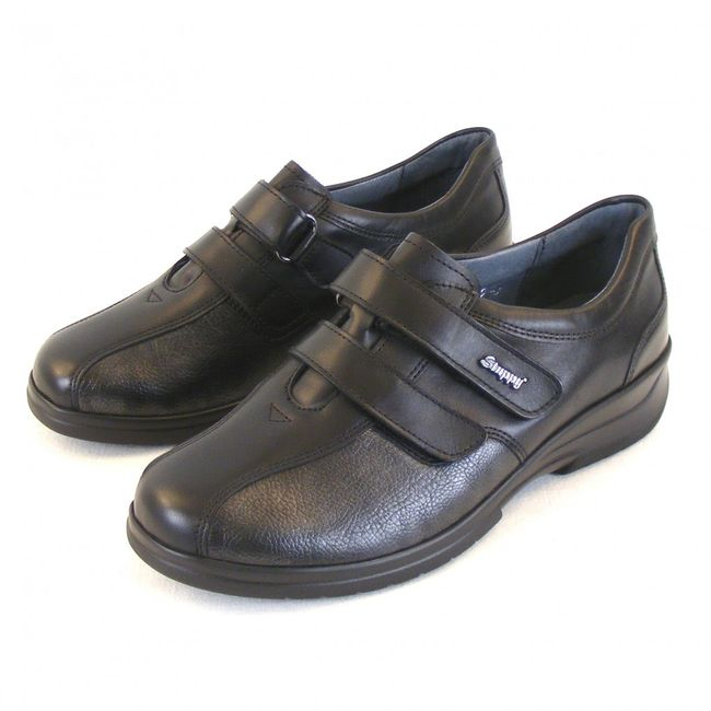 Stuppy Damen Schuhe Halbschuhe Leder Stretch schwarz altsilber 11275 Fußbett  – Bild 1
