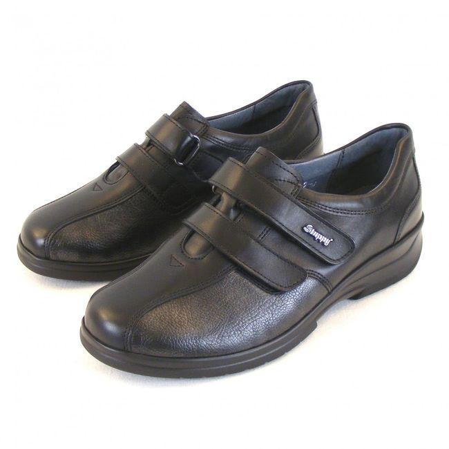 Stuppy Damen Schuhe Halbschuhe Leder Stretch schwarz altsilber 11275 Fußbett