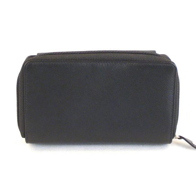 HGL Damen Geldbörse RV-Börse Leder schwarz 11446 Kreditkartenfach Bildfach – Bild 2