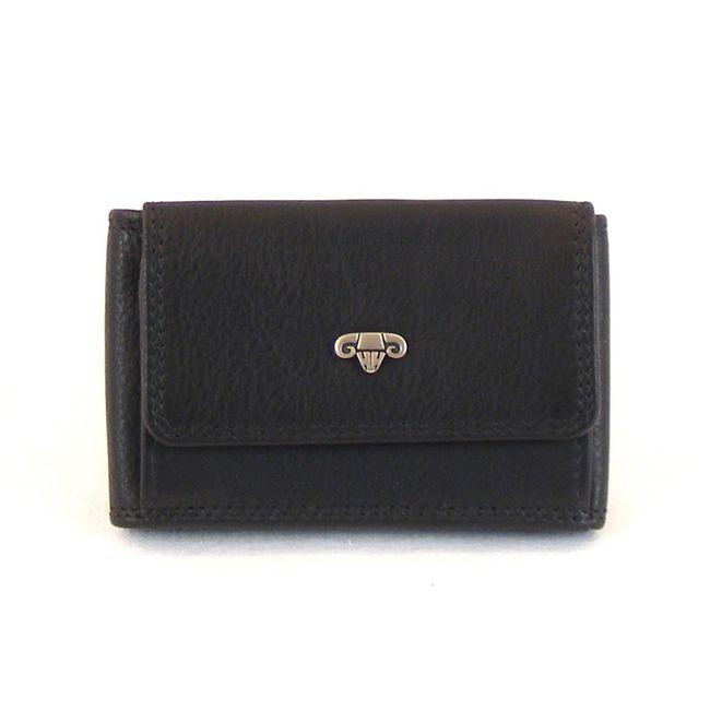 HGL Geldbörse Minibörse Querformat echt Leder schwarz 11515 klein – Bild 1