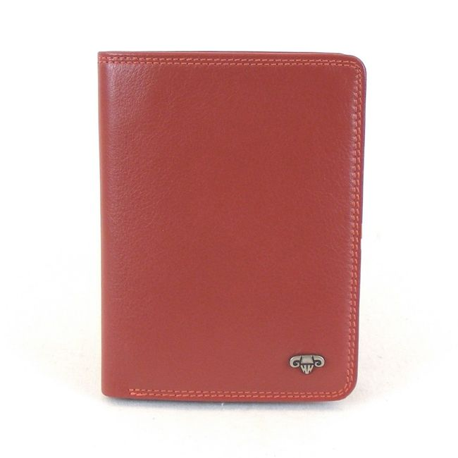 HGL Dokumenten- Etui Hochformat Echt-Leder rot 11527 Kreditkartenfach Bildfach – Bild 1