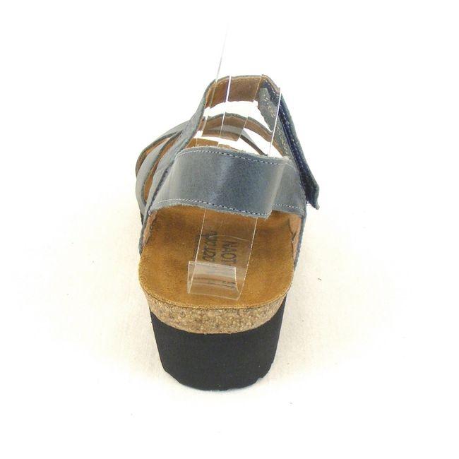Naot Damen Schuhe Sandaletten Kayla Leder blaugrau 11710 Korkfußbett Freizeit – Bild 3
