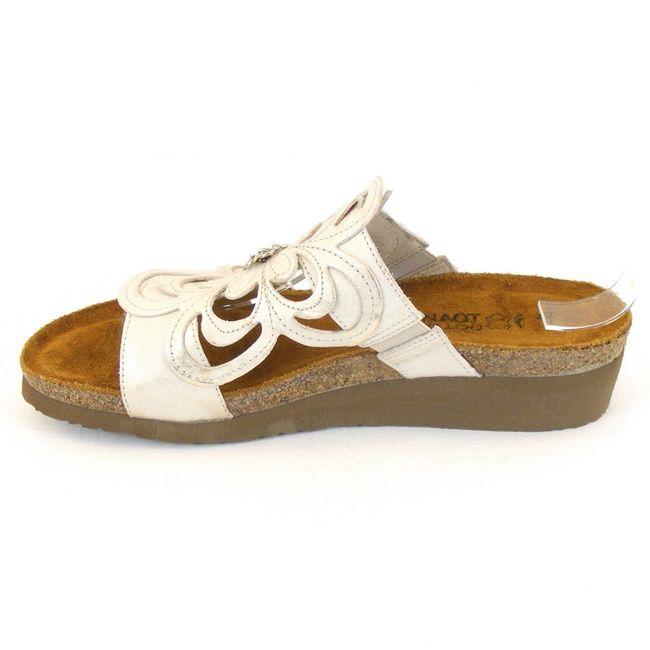 Naot Damen Schuhe Pantoletten Sandy echt Leder silber Korkfußbett Freizeit 11725 – Bild 2