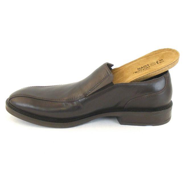 Naot Herren Schuhe Slipper Success echt Leder dunkelbraun 11779 Wechselfußbett  – Bild 6