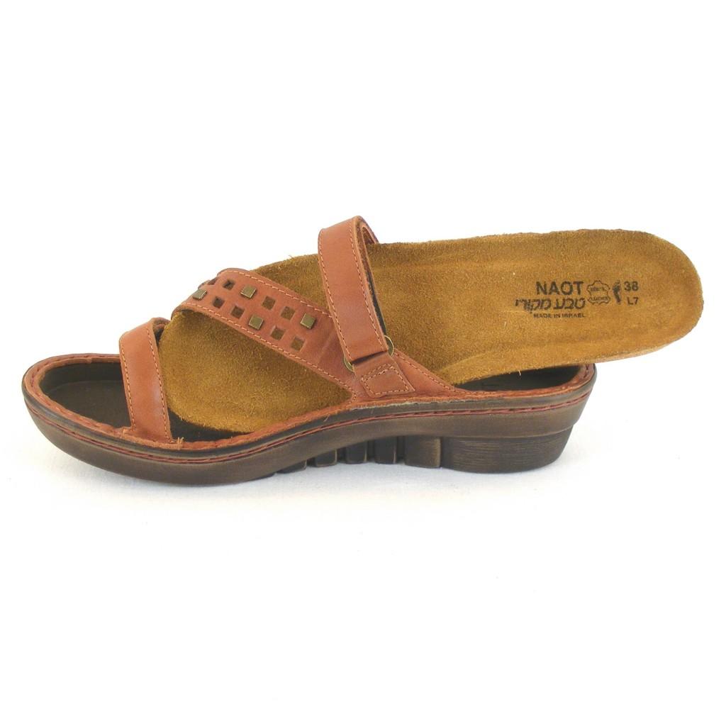 Leder Damen Naot Pantoletten 11833 Schuhe Agile Rotbraun xprnxF