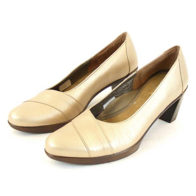 Naot Damen Schuhe Pumps Rabat Leder soft gold 11865 Wechselfußbett Fußbett – Bild 1
