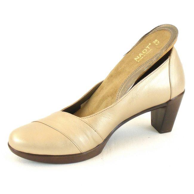 Naot Damen Schuhe Pumps Rabat Leder soft gold 11865 Wechselfußbett Fußbett – Bild 6