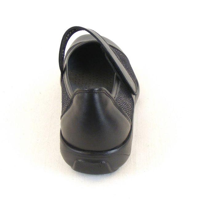 Stuppy Damen Schuhe Mary Jane Spangenschuhe Leder Stretch schwarz 12357 Fußbett – Bild 3