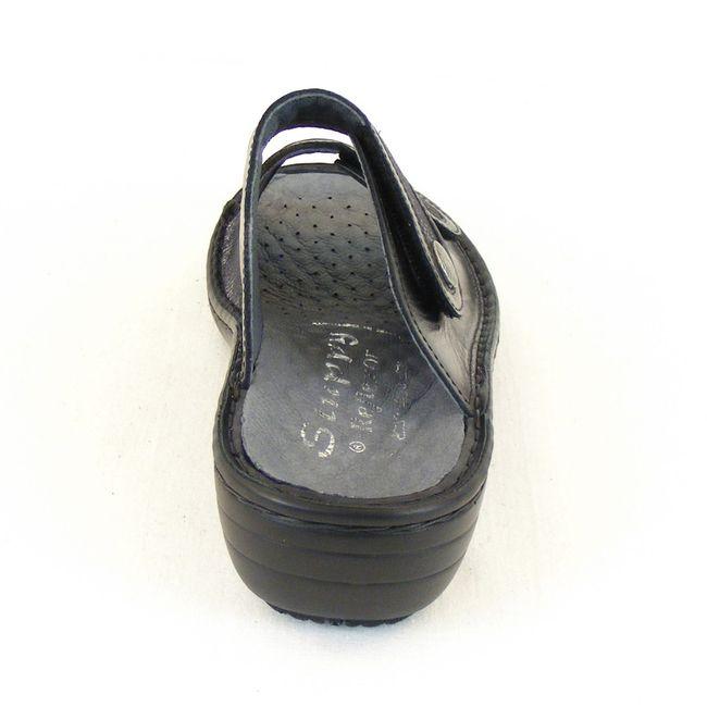 Stuppy Damen Schuhe Pantoletten Leder Stretch schwarz 12454 Wechselfußbett  – Bild 3