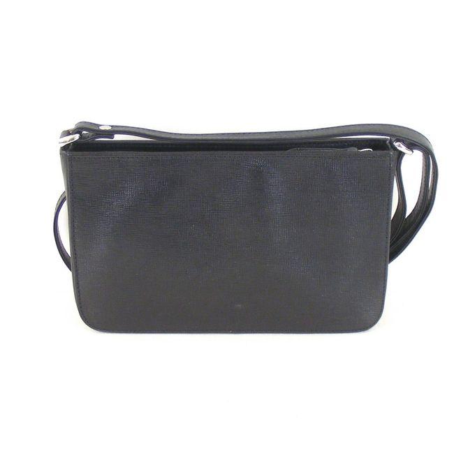 Pavini Damen Tasche Schultertasche Saffiano Leder schwarz 12581 Reißverschluss – Bild 3