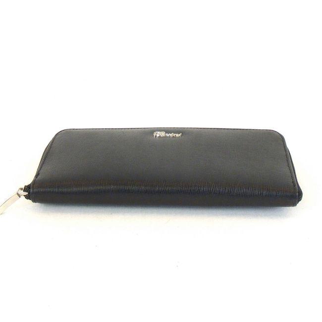 Pavini Damen Tasche Tischtasche Saffiano Leder schwarz 12586 Reißverschluss  – Bild 5