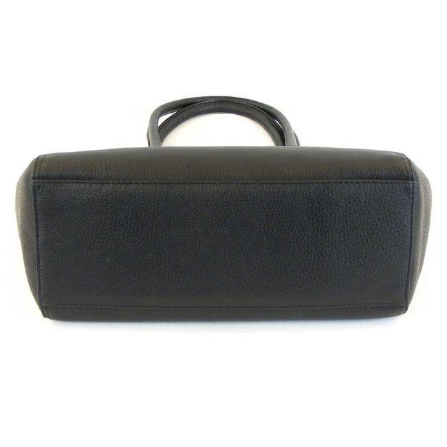 Pavini Damen Tasche Shopper Verona Leder schwarz 12639 Handyfach Reißverschluss – Bild 5