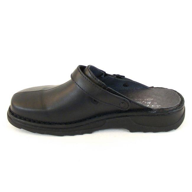 Stuppy Herren Schuhe Pantoletten/Clogs Leder schwarz 12765 Wechselfußbett – Bild 2