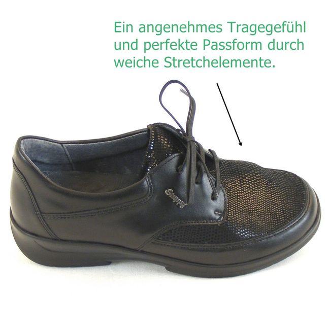Stuppy Damen Schuhe Halbschuhe Leder Stretch schwarz 12778 Wechselfußbett – Bild 7