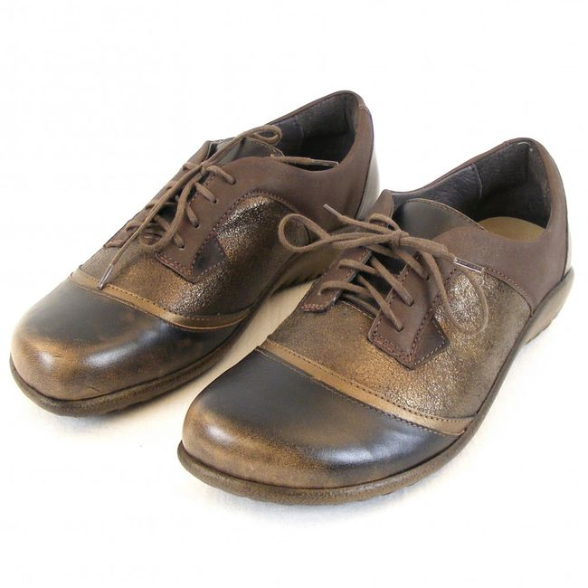Naot Damen Schuhe Halbschuhe Harore Leder bronze braun gold Wechselfußbett 12802 – Bild 1
