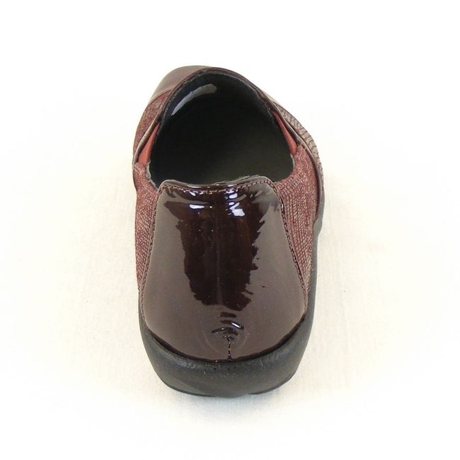 Naot Damen Schuhe Slipper Miro Echt Leder bordo combi 12808 Wechselfußbett  – Bild 3
