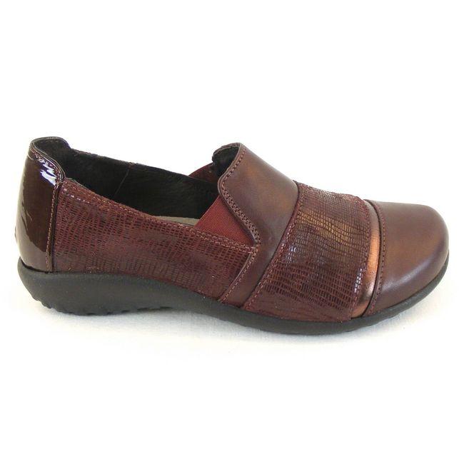Naot Damen Schuhe Slipper Miro Echt Leder bordo combi 12808 Wechselfußbett  – Bild 4