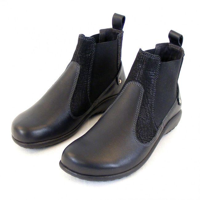 Naot Damen Schuhe Chelsea-Boots Konini Leder schwarz combi 12826 Wechselfußbett